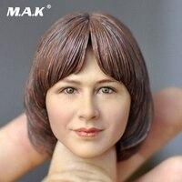 1/6 Head Sculpt Heads sculpt 1/6 KUMIK short hair Action Figure head Female KM 18 33 Painted