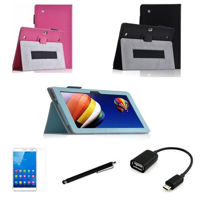 4in1 защитный Кожаный Чехол + OTG + Протектор Экрана + стилус Для huawei MediaPad 10 Link + FHD 10.1 ''Tablet PC покоя