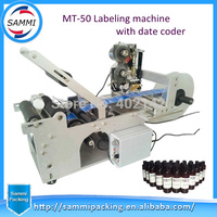 Hot Sale Round bottle labeling machine with code printer, semi automatic labeling machine labeller