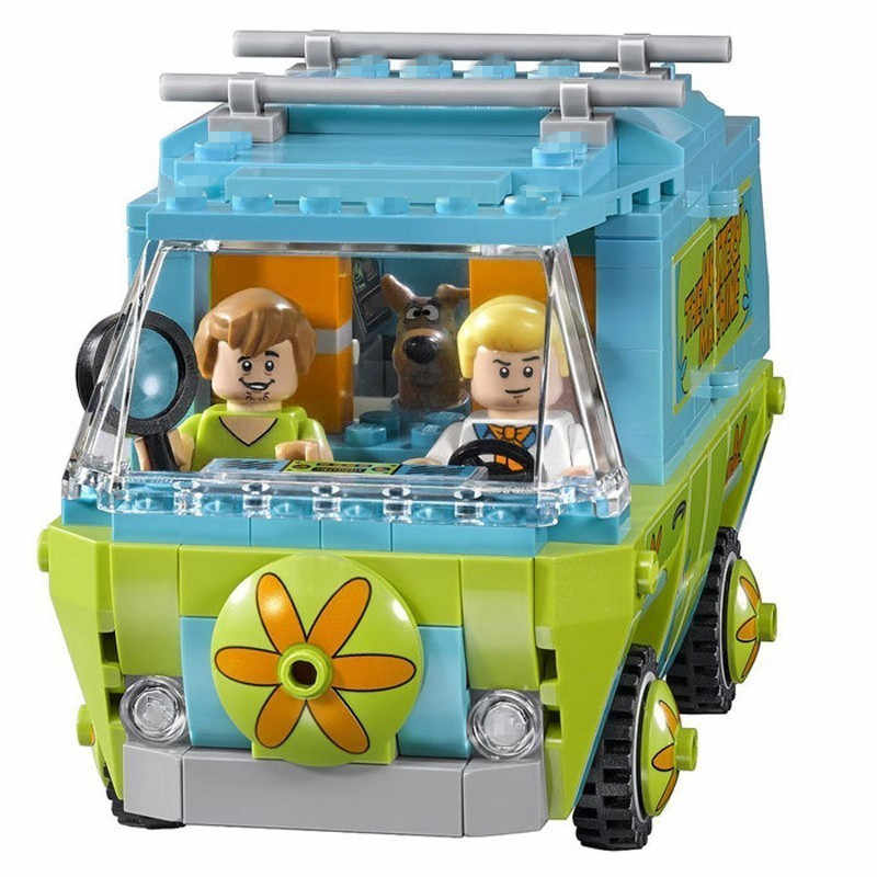 305pcs The Mystery Machine Bus Bela Scooby Doo Series Building model kits Legoings 75902 Bricks Toys For Children brinquedos