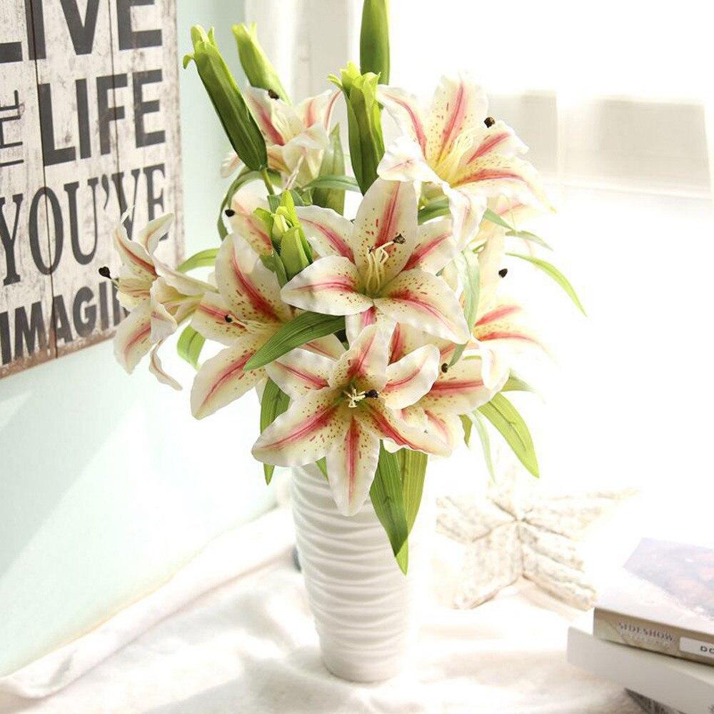 Hot Artificial Calla Lily Wedding Bridal Bouquet Fake Flowers Diy
