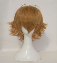 High Quality Voltron Pidge Wig Short Light Brown Heat Resistant Synthetic Hair Wigs + Wig Cap