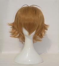 Hohe Qualität Voltron Pidge Perücke Kurze Licht Braun Hitze Beständig Synthetische Haar Perücken + Perücke Kappe