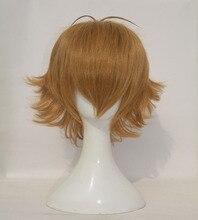 고품질 voltron pidge 가발 짧은 빛 갈색 내열성 합성 머리 가발 + 가발 모자