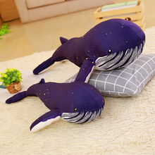 60/80cm Cartoon Whale Plush Toy Shark Big Pillow Cushion Large Home Decor Fish Stuffed Animals Baby Birthday Gift Blue