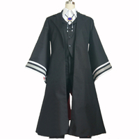 New Style Anime The Ancient Magus Bride Elias Ainsworth Cosplay Costume Black Outfit Full Set with gloves and head piece