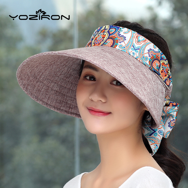 Fashion Casual Paper Women Summer Hats Solid Polyester Summer Female Hat  Ladies Sun Visor hat Sun UV Protection Women Hats Cap ed30e399e3f