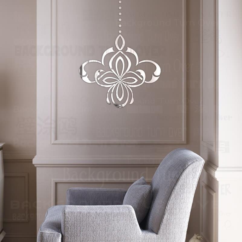 DIY Reflective Lantern 3D Decorative Mirror Wall Stickers