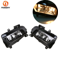 POSSBAY Halogen Car Fog Lights for Audi A4 Avant Sedan 2013 2014 2015 2016 12V 34W Car Light Front Bumper Lower Foglamps