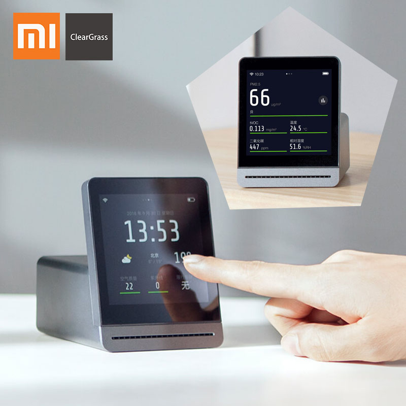 Xiaomi Mijia ClearGrass Air monitor Retina Touch IPS Screen Mobile Touch Operation Indoor Outdoor Clear Grass