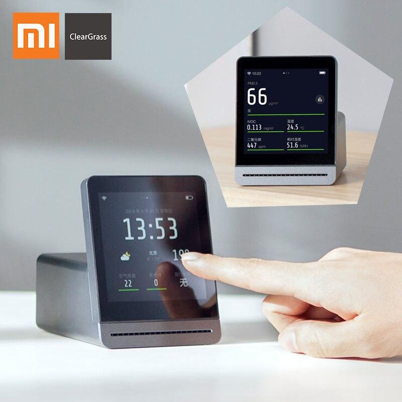 Xiaomi mijia cleargrass monitor de ar tela de toque retina ips móvel operação de toque ao ar livre indoor limpar detector de ar grama