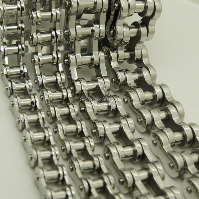 13mm width 67.8g motorcycle bike chain men/boy's stainless steel  bracelet men jewelry bangles & punk 4 width available