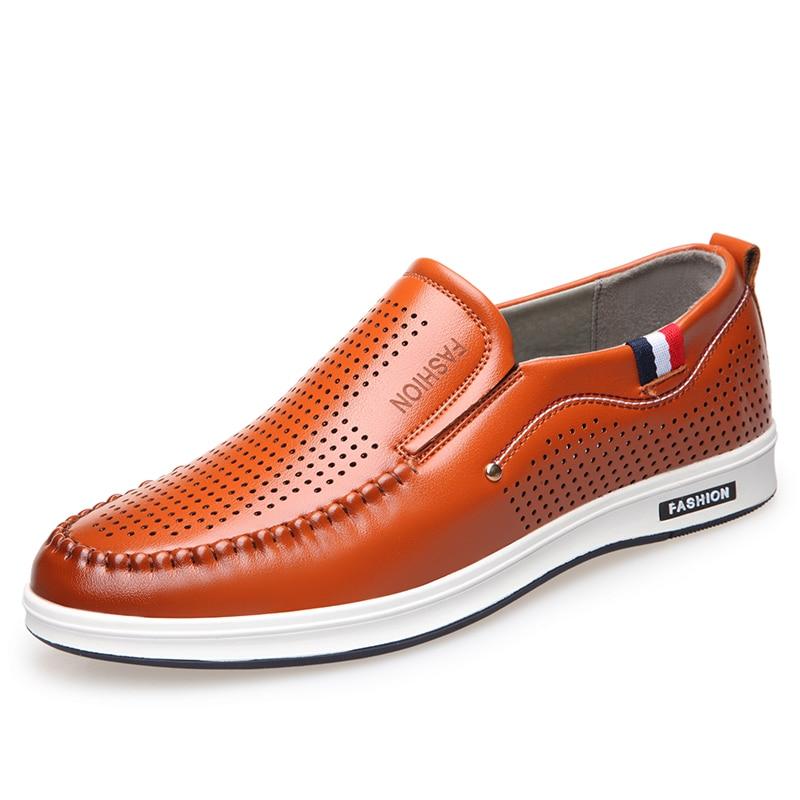 2019 orange chaussures homme mocassins souple d coupe black cuir hommes en d 39 t nouveau. Black Bedroom Furniture Sets. Home Design Ideas