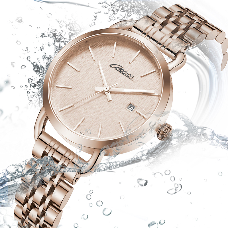 CQ1707 Fashion Ladies Wrist Watches Luxury Brand Watch Women Waterproof Full Steel Quartz Clock Watch for Girls Relogio Feminino bbb
