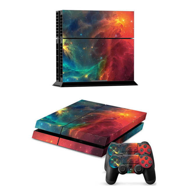 Top selling new arrival pvc deep space decal cover skin cover stickers for playstation 4 for