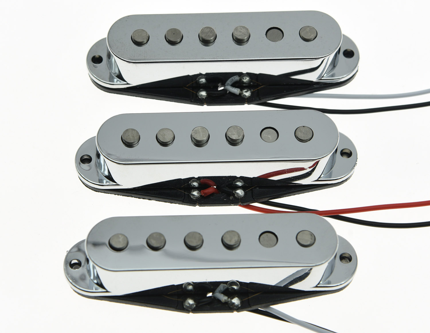KAISH 3x Chrome Alnico 5 Single Coil Pickups ST Strat SSS Pickup Set single coil pickup cover 1 volume 2 tone knobs switch tip for strat guitar replacement ivory 10 set