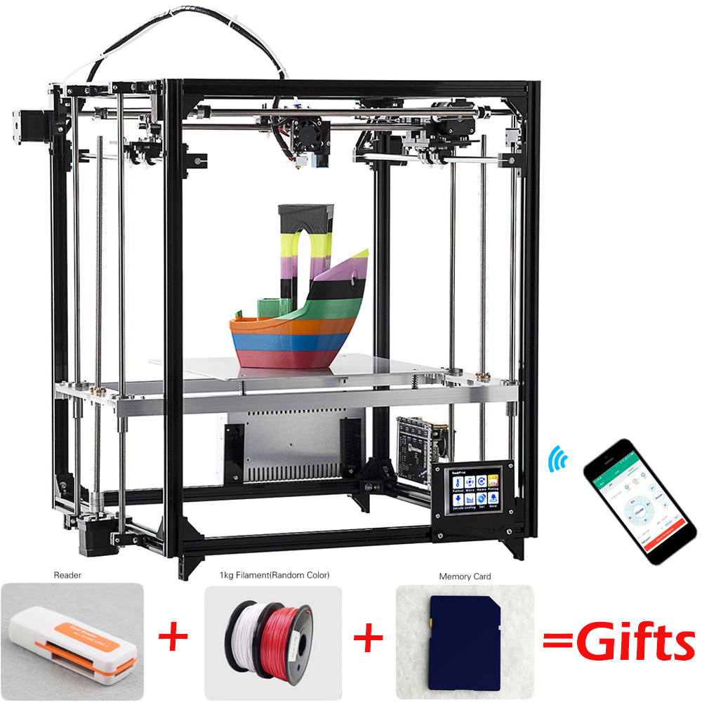 Flsun Cube F2 3D Printer Diy Kit Auto Leveling Large Print Wireless Auto Leveling Filament Replace Print Breakpoint 3.2'' Screen 2018 flsun i3 3d printer diy kit dual nozzle touch screen large printing size 300 300 420mm two roll filament for gift