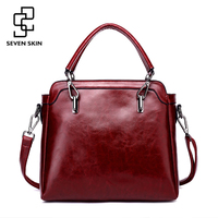 SEVEN SKIN 2017 Famous Brand Retro Design Ladies Hand Bags PU Leather Women Bag Casual Tote