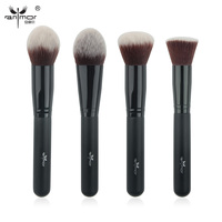 Anmor 4 Pcs Face Brushes Kit Synthetic Makeup Brushes Professional Makeup Brush Set For Powder Foundation