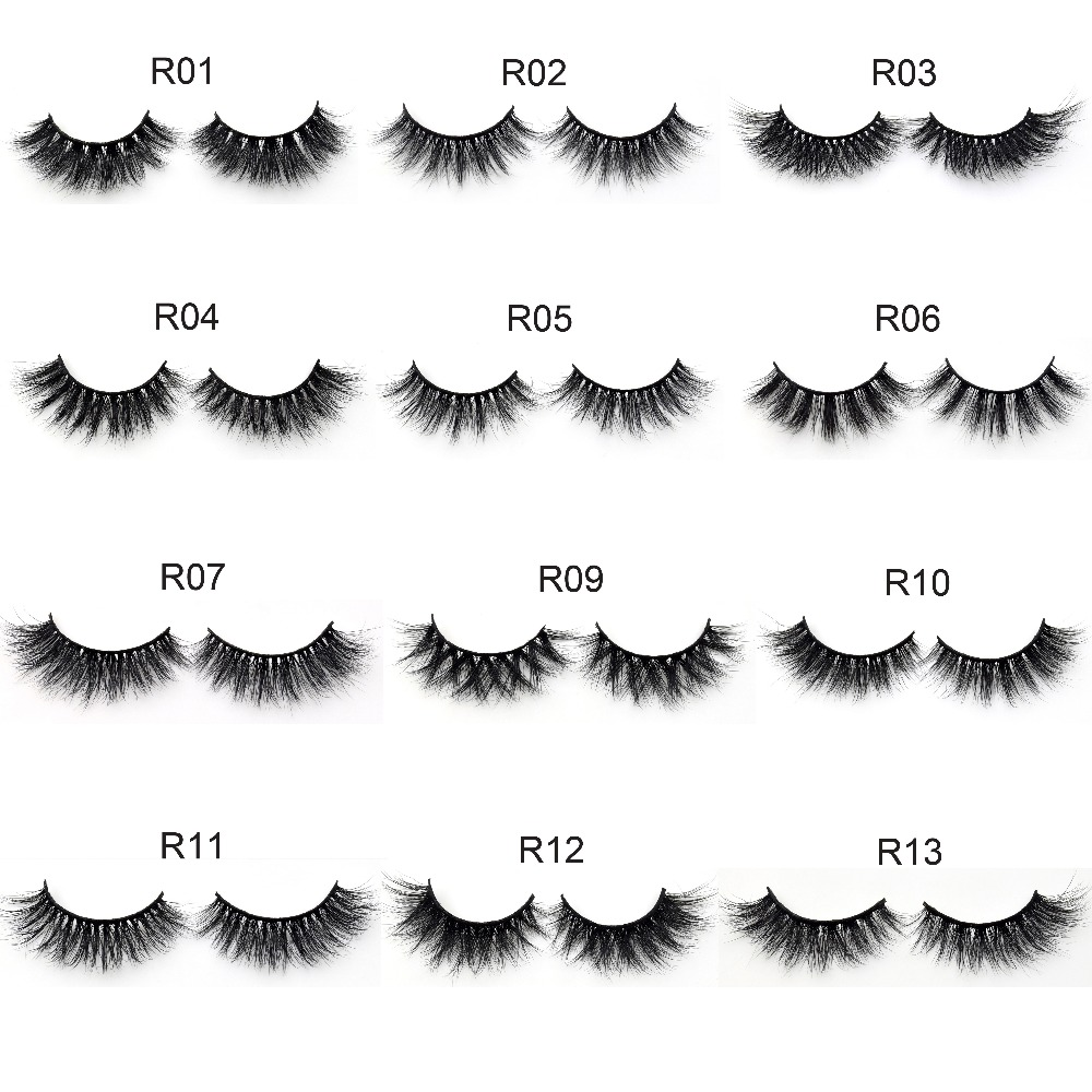 Visofree Eyelashes Makeup 3D Mink Eyelashes 100% Cruelty-free Mink Fur Dramatic False Eyelashes Medium Volume 13styles