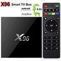 X96 S905X Android 6.0 TV Box Amlogic Quad Core 1 GB RAM 8 GB ROM Wifi HDMI 2.0A 4 K * 2 K de Marshmallow Kodi Media Player Set Top Box