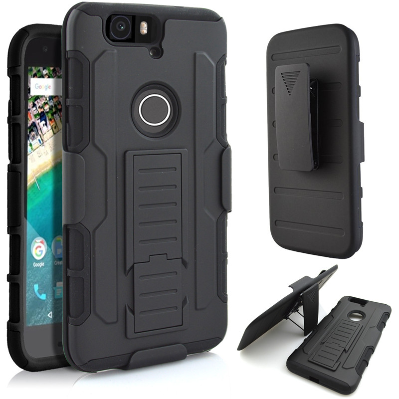 the best attitude d5f38 e0a39 US $6.29 30% OFF|LANCASE For Huawei Nexus 6P Case Hard Armor Belt Clip  Silicone Stand Cover Case For Huawei P8 Lite P9 Lite P9 6P 5X Phone  Cases-in ...