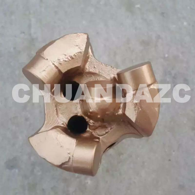 56mm 3 wings whole piece pdc drill bit for sandstone drilling diamond pdc drill bit coal ore mining oil well drilling 3 wing coring