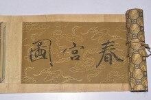 TNUKK Coleção Digna Oriental Vintage Chinês Pinturas de rolagem Pinturas de Figuras.