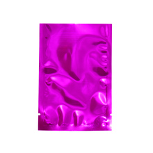 100 Pieces Heat Seal Mylar Bag 12*18cm Open Top Aluminum Foil Pouch Pink Glossy Food Grade Package for Candy Nut Mask Pack