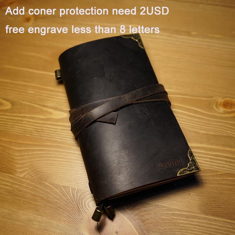 Hatimry äkta läder anteckningsbok resenärer journalen bältet - Block och anteckningsböcker - Foto 2
