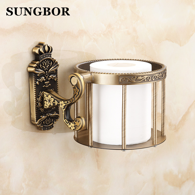 Brass antique brass paper towel rack europe style showroom shelf paper holder European toilet paper box toilet accessories luxury antique brass paper rack bathroom paper holder european toilet paper box toilet accessories wall mounted