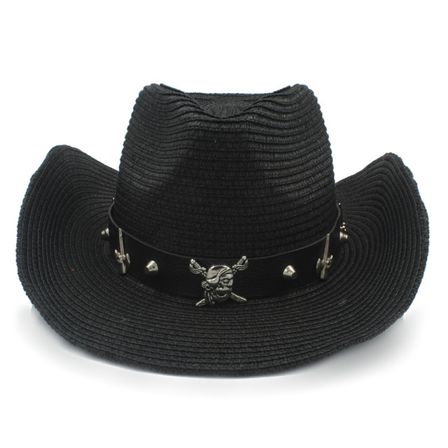 Women Men Straw Western Cowboy Hat With Roll Up Brim Jazz Sombrero Cap With  Fashion Belt Size 56-58CM 0fc8a8c847a6