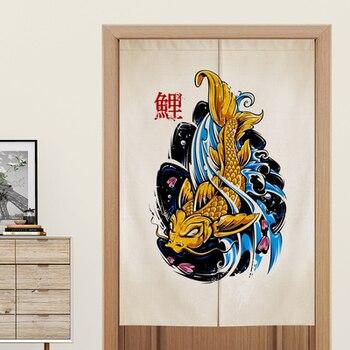 Tessuto Per Tende Da Cucina | Stile Giapponese Tenda Della Porta Della Cucina Dello Schermo In Tessuto Camera Da Letto Ristorante Wc Decorativo Appeso Tenda