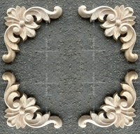 Fashion Corners Wood Carved Motif Wood Shavings Smd Furniture Door Cabinet Door Applique Dongyang Wood Carving