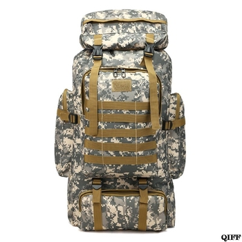 80L Large Camo Rucksack Backpack Hiking Tactical Military Camping Survival Gear 1