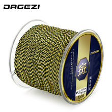 DAGEZI 300m PE Braided Fishing Line 25 30 40 50 80LB Super Strong Multifilament Fishing Line For Carp Fishing Tackle fulljion 14 colors 300m 328yards pe braided fishing line 4 stands super strong multifilament fishing lines for carp fishing