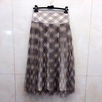 Floral Print Summer Skirts Women 2019 High Waist Maxi Silk Skirts For Women
