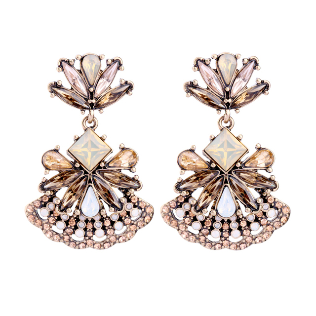 Fashion Gl Fl Hanging Earrings Online Ping India Women Vintage Chunky Jewelry