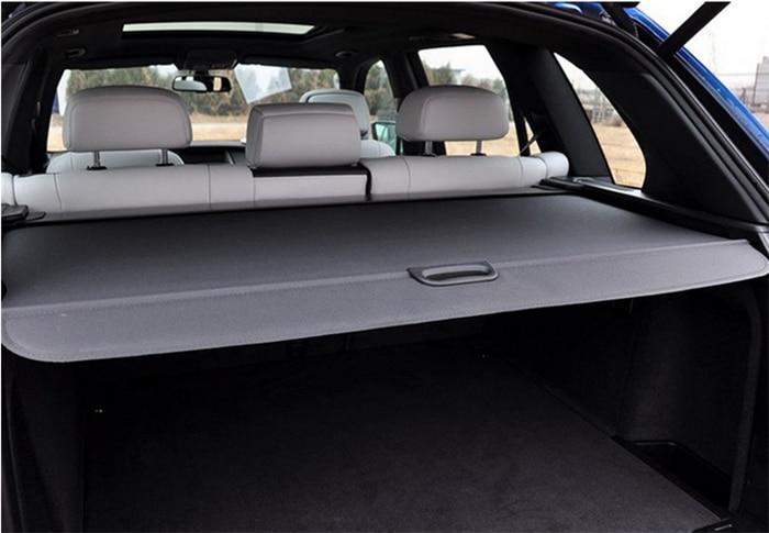 Pour BMW X5 E70 2008 2009 2010 2011 2012 noir rétractable arrière couverture de coffre ombre couvercle de sécurité en aluminium + toile