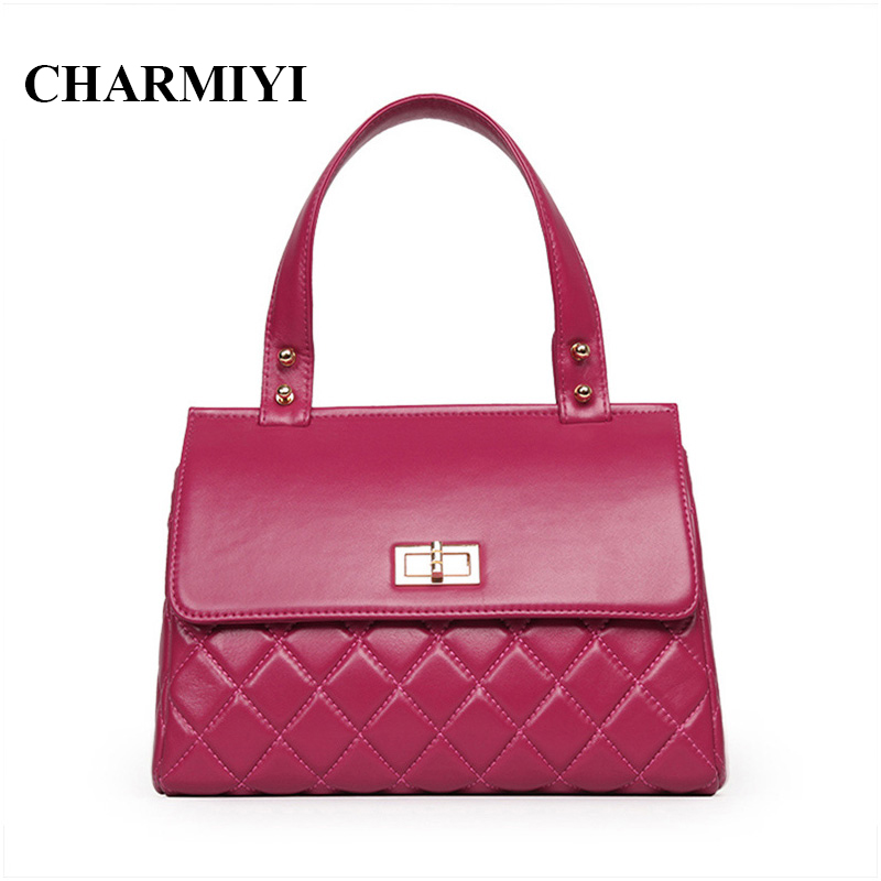 ФОТО CHARMIYI 2016 luxury women genuine leather handbag high quality designer fashion women bags handbags women famous brand tote bag
