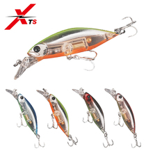 XTS Fishing Lure Hard Bait Minnow Jerkbait Wobblers 55mm 7g/70mm 12g Strong Hooks 4 Colors Available Slow Sinking 6504