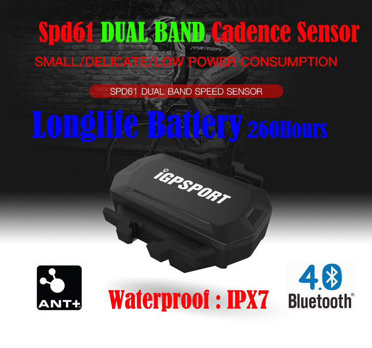 Speed Sensor iGPSPORT SPD61 Wireless Waterproof for Stopwatch Bicycle Computer for Garmin Strava Runtastic PRO Wahoo Fitness ...