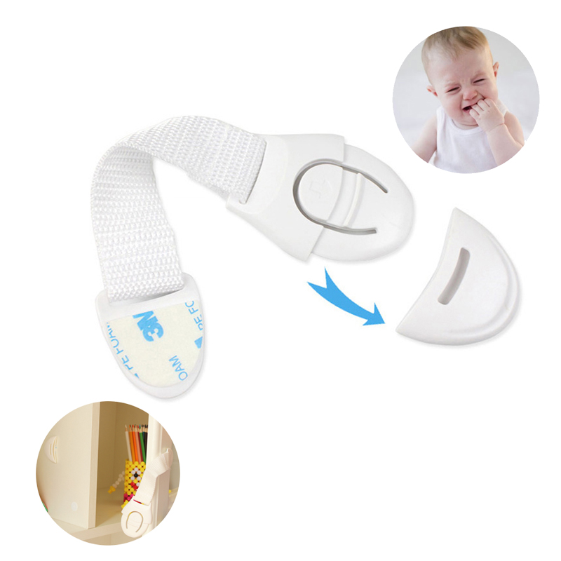10pcs/Lot Baby Protection Drawer Door Cabinet Cupboard Toilet Safety Locks Infant Kids Safety Care Plastic Locks Strap Wholesale