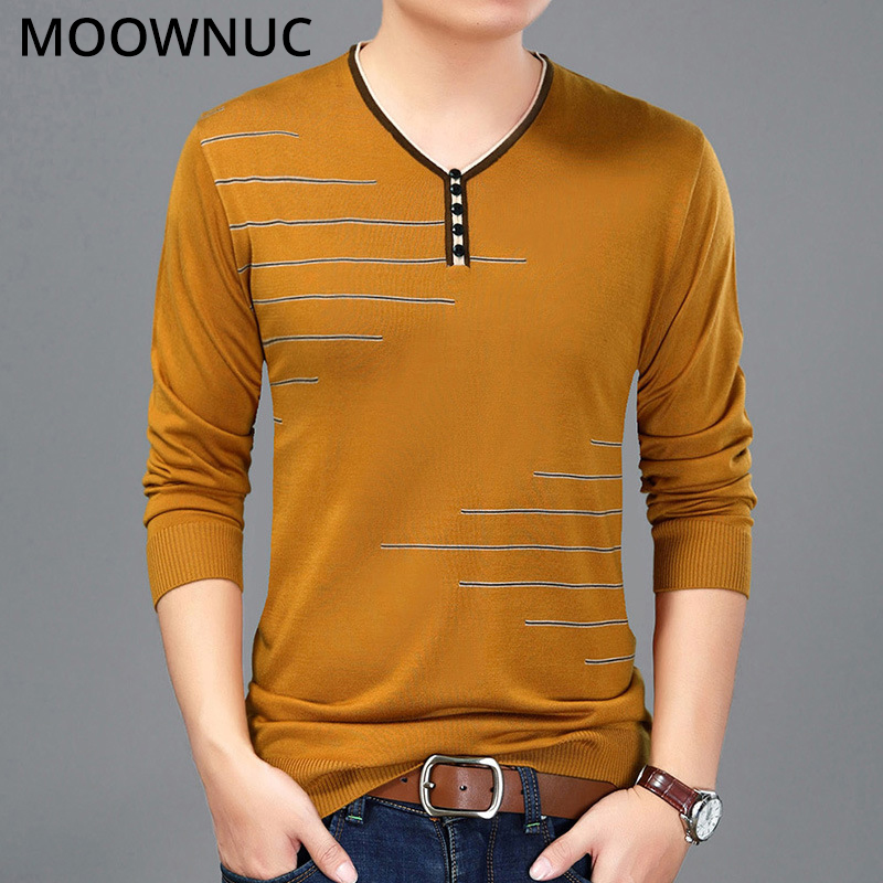 Men Sweaters Fashion Autumn Homme Pullover Slim Keep Warm Spring Smart Casual Male Sweaters Bottoming Shirt O-Neck MOOWNUC MWC