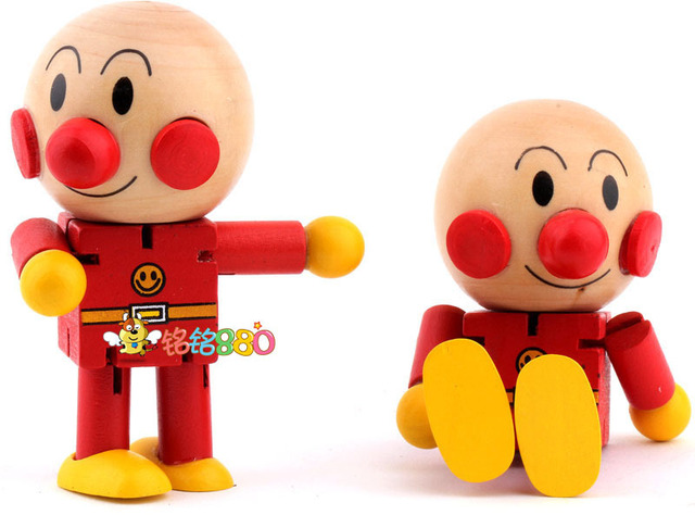 الاطفال الطفل خشبية Anpanman روبرت ألعاب الدمىالأطفال لطيف الكرتون