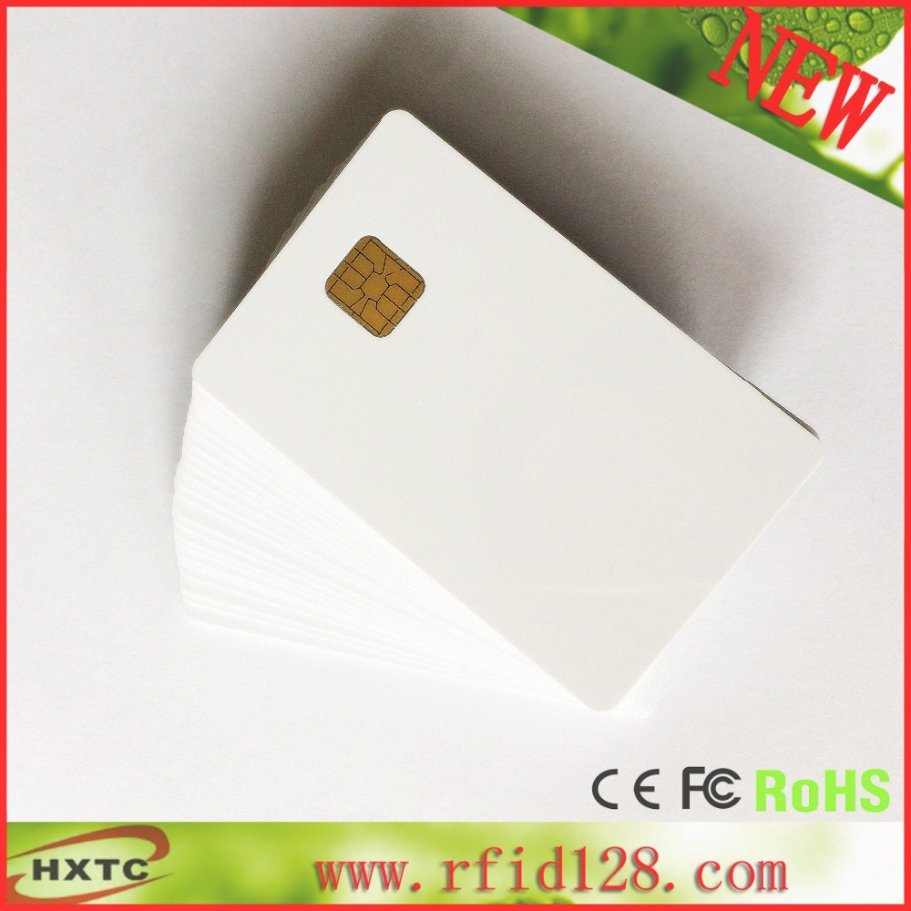 Factory price (500PCS/Lot) SLE4428 Chip Smart PVC IC Card with 1024 Bytes EEPROM Memory Printable By ZebraP330i Printer 20pcs lot double direct printable pvc smart rfid ic blank white card with s50 chip for epson canon inkjet printer