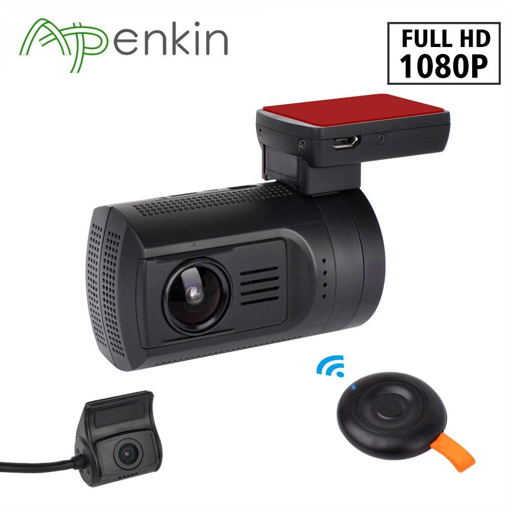 Arpenkin Double Objectif Dash Caméra Mini 0906 avec Sony Capteur 1080 p Double lentille Voiture Dash Cam Full HD Novatek GPS Tracker Voiture DVR