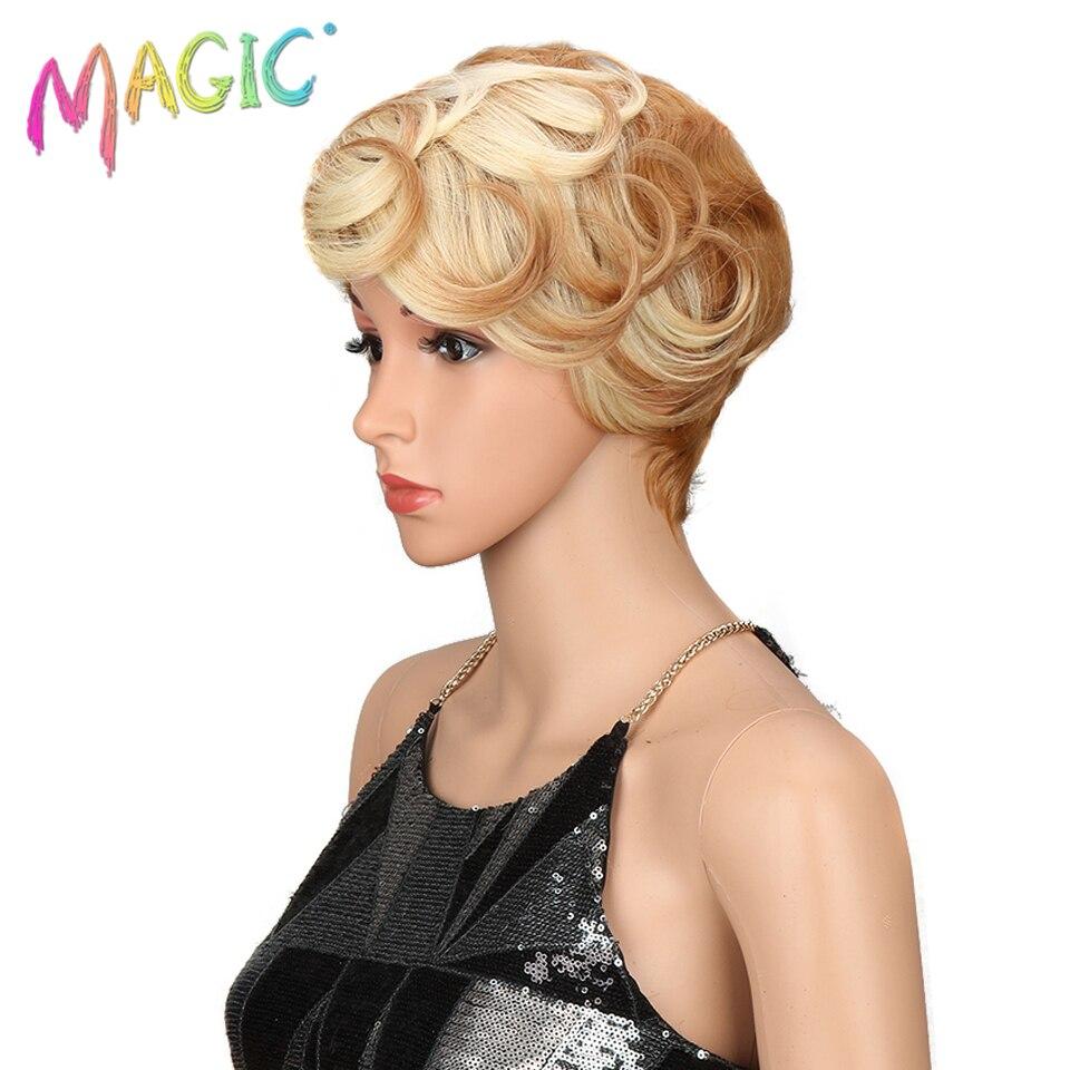 Волшебные волосы короткие синтетические парики женские термостойкие волосы 8 дюймов короткие синтетические парики для женщин волна 3 цвета