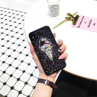 Summer 3D Glitter ICE Cream Soft Transparent TPU Mobile Phone Cases For IPhone6 6S 6Plus 8