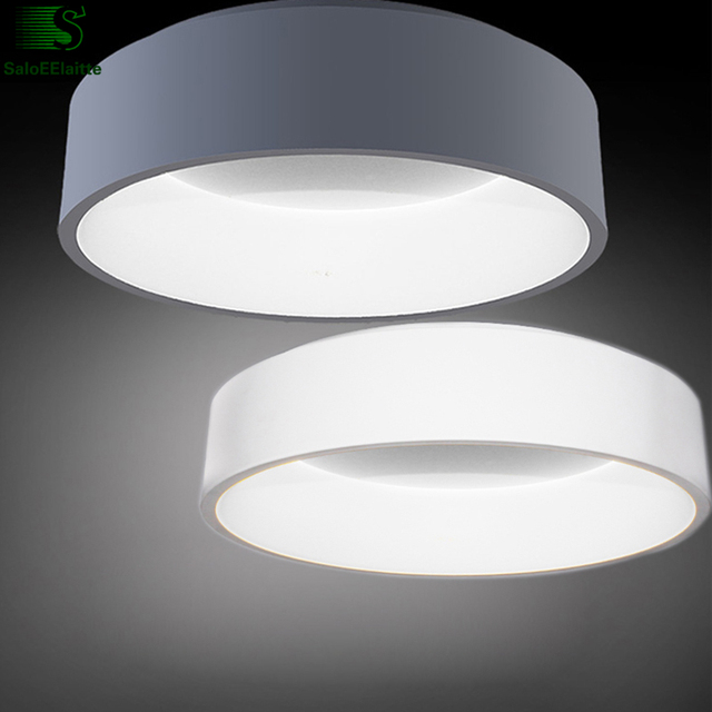 Nordic Round Aluminum Dimmable Led Ceiling Lights Re Acrylic Dining Room Lamp Bedroom